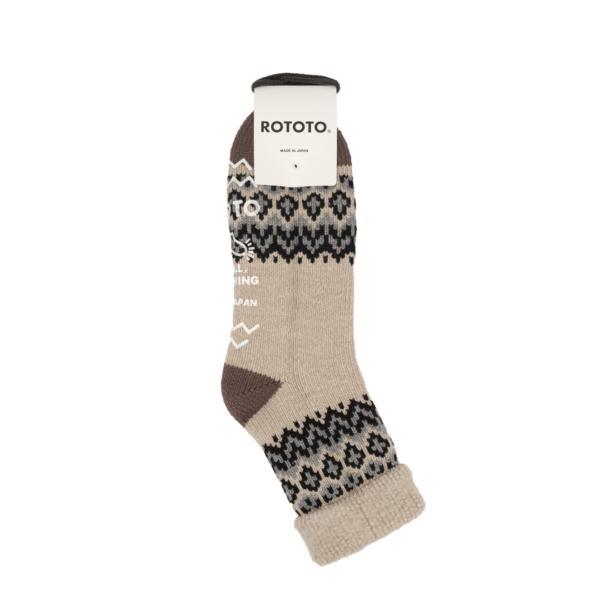 RoToTo Comfy Room Socks Nordic Ivory
