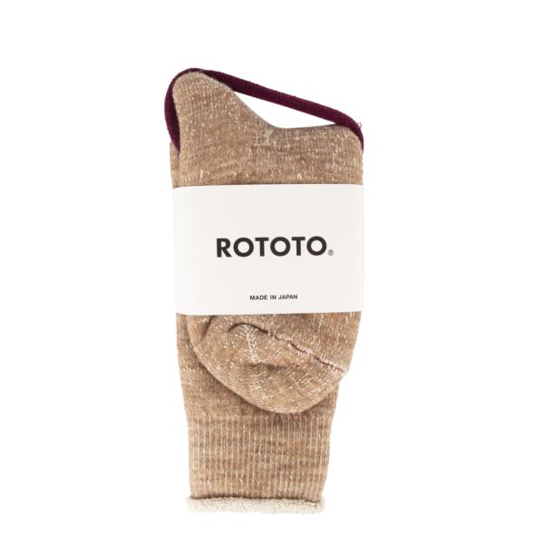 RoToTo Double Face Socks Camel