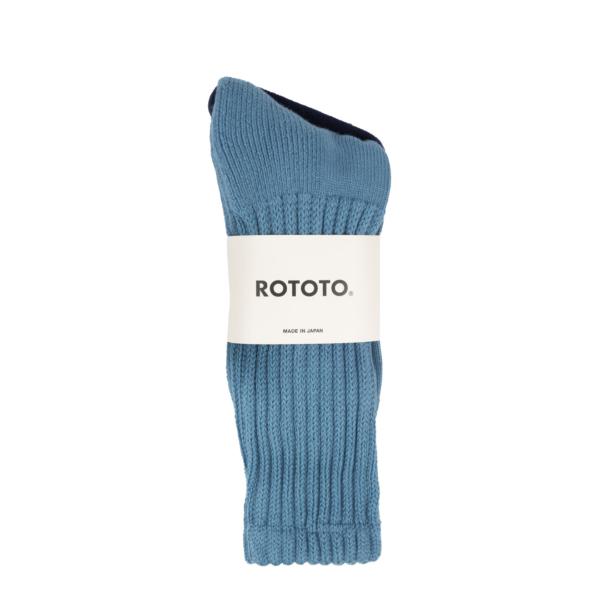 RoToTo Loose Pile Socks Mid Blue