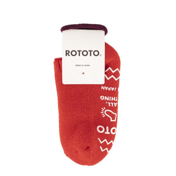 RoToTo Pile Slipper Socks Red