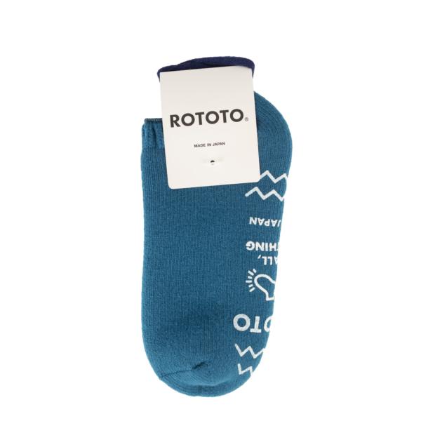 RoToTo Pile Slipper Socks Sea Blue