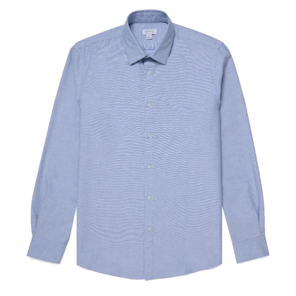 Sunspel Casual L/S Shirt Dark Blue Oxford