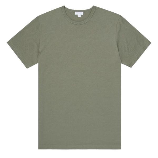 Sunspel Classic Crew T-Shirt Light Khaki