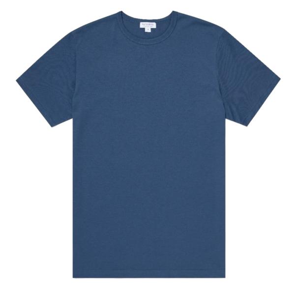 Sunspel Classic Crew T-Shirt Smoke Blue