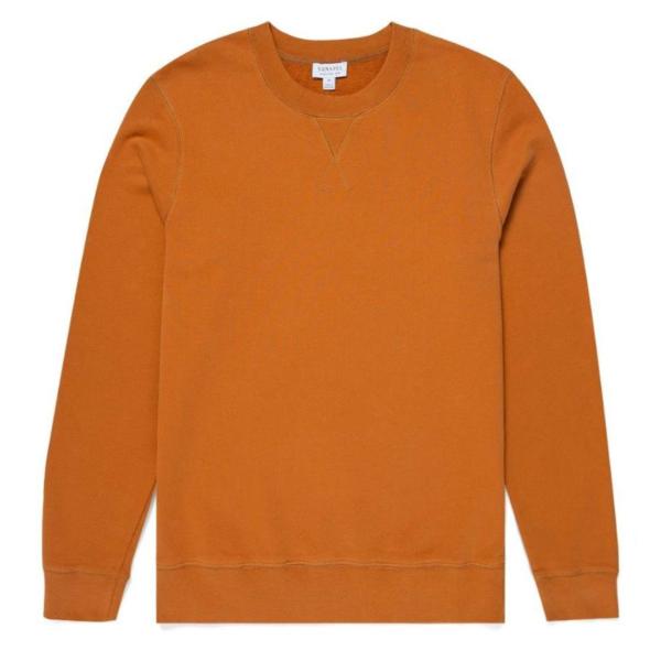 Sunspel Loopback Sweatshirt Cinnamon