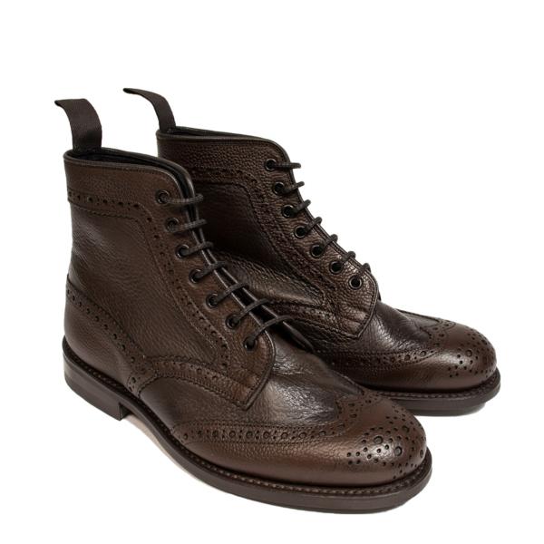 Trickers Adstone Two Tone Brogue Boot Brown Grain / Brown Olivia
