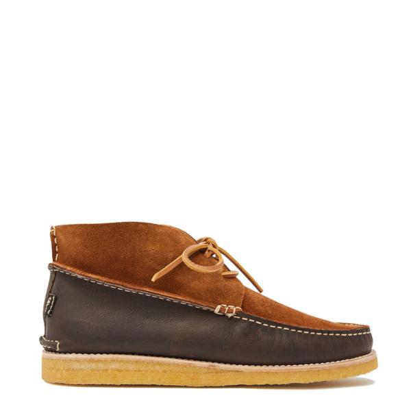 Yogi Lucas Suede / Leather Crepe Shoe Dark Brown / Cola