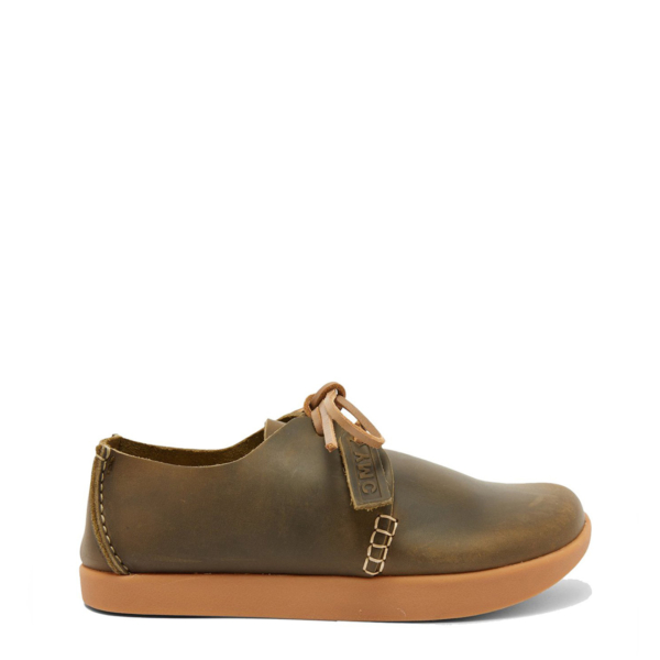 Yogi x YMC Womens Orson Leather Shoe Olive
