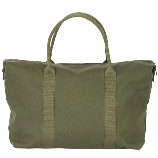 Barbour Benn Weekender Bag Khaki With Grab Handles