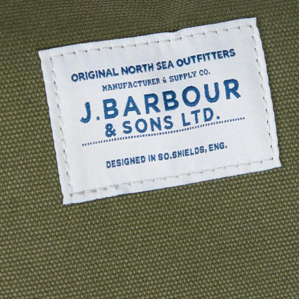 Barbour Benn Weekender Bag Khaki Stitched on J.Barbour & Sons Ltd Label