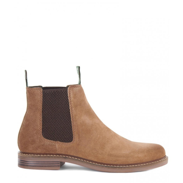 Barbour Farsley Chelsea Boot Sand Side View