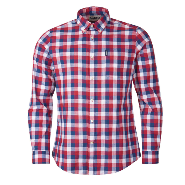 Barbour Gingham 25 Tailored L/S Shirt Red