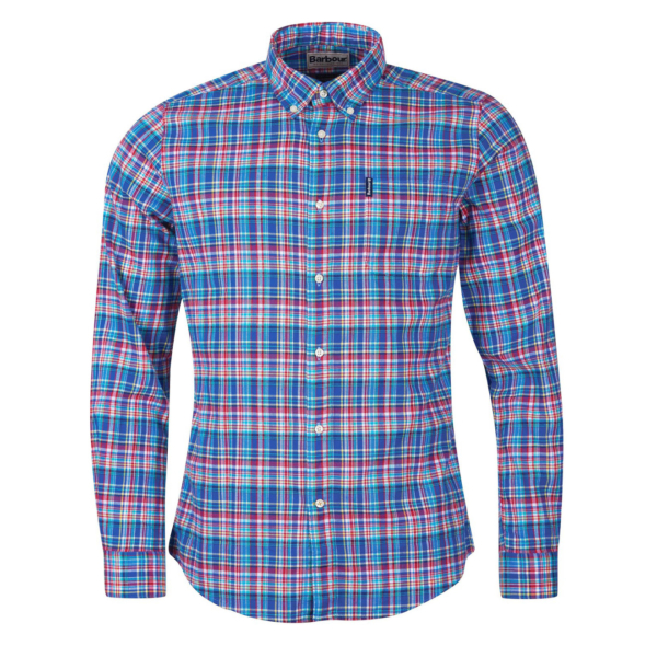 Barbour Highland Check 38 Tailored Fit Shirt Blue