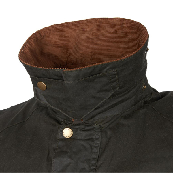Barbour Lightweight Ashby Wax Jacket Archive Olive Collar