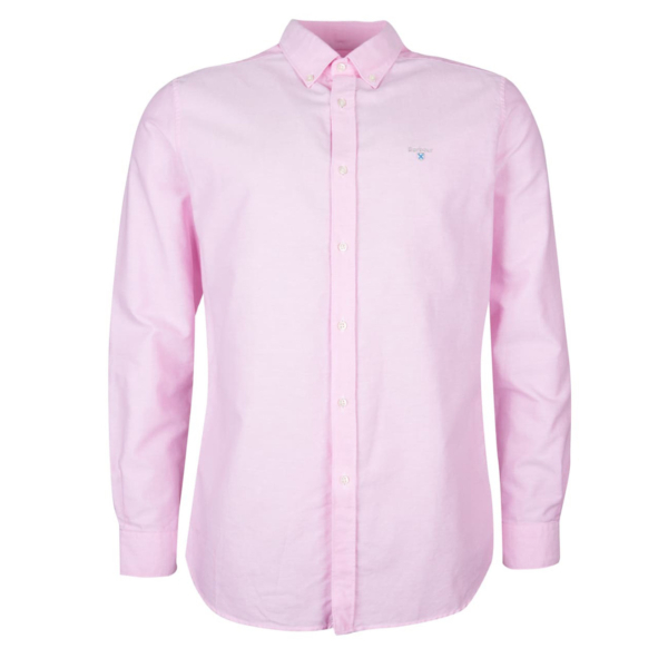 Barbour Oxford 3 L/S Tailored Shirt Pink With Button-Down Collar