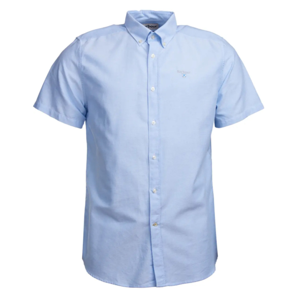 Barbour Oxford 3 S/S Tailored Shirt Sky