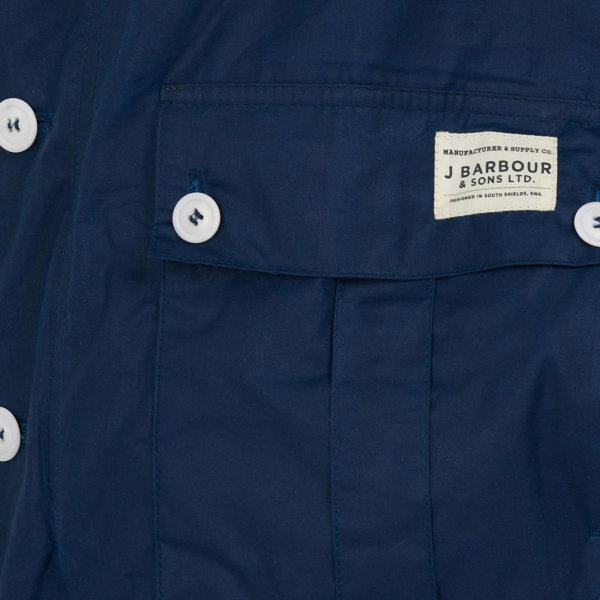 Barbour Qube Wax Jacket Posiden Barbour Emblem on Pocket Flap
