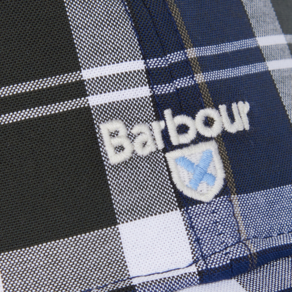 Barbour Tartan Sports Cap Sage Tartan Embroidered Barbour Logo & Emblem