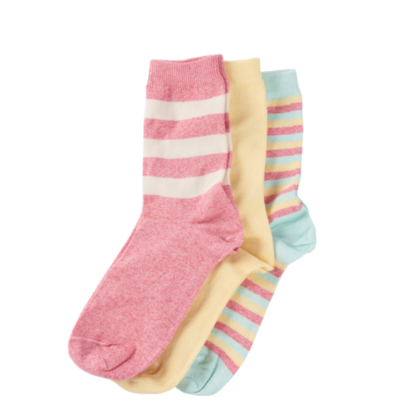 Barbour Womens Coastal Stripe Sock Set Mixed