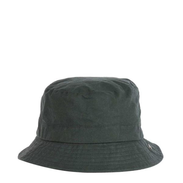 Barbour Womens Lightweight Wax Bucket Hat Duffle Green