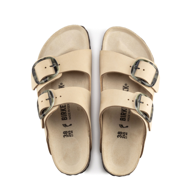 Birkenstock Womens Arizona Big Buckle Sandal Printed NU Almond