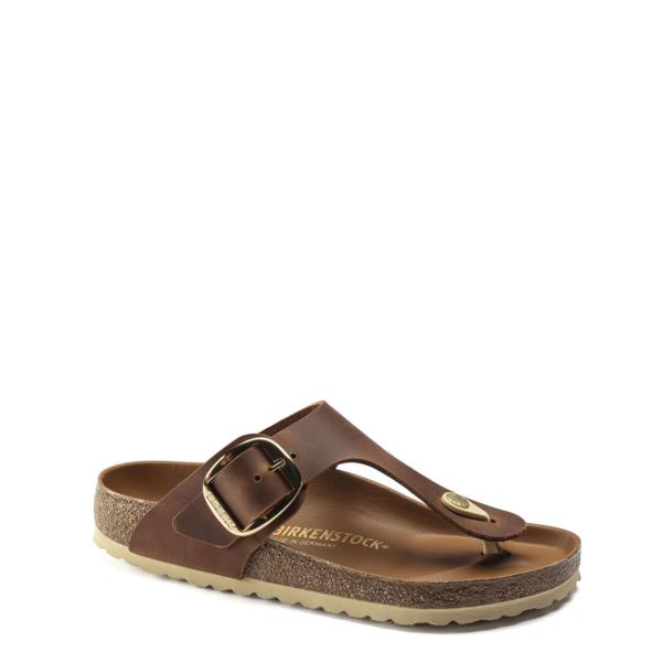 Birkenstock Womens Gizeh Big Buckle Sandal Cognac
