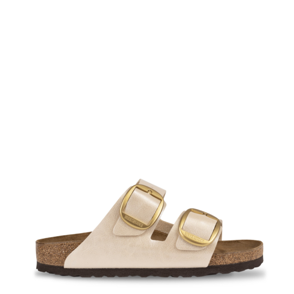 Birkenstock Womens Arizona Big Buckle Sandals Graceful Pearl White