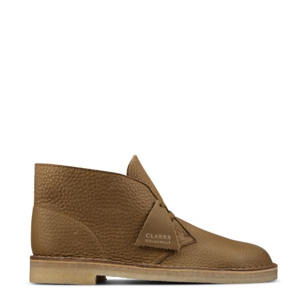 Clarks Originals Desert Boot Dark Olive Leather