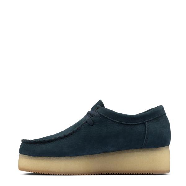 Clarks Originals Womens Wallacraft Lo Shoes Blue Nubuck