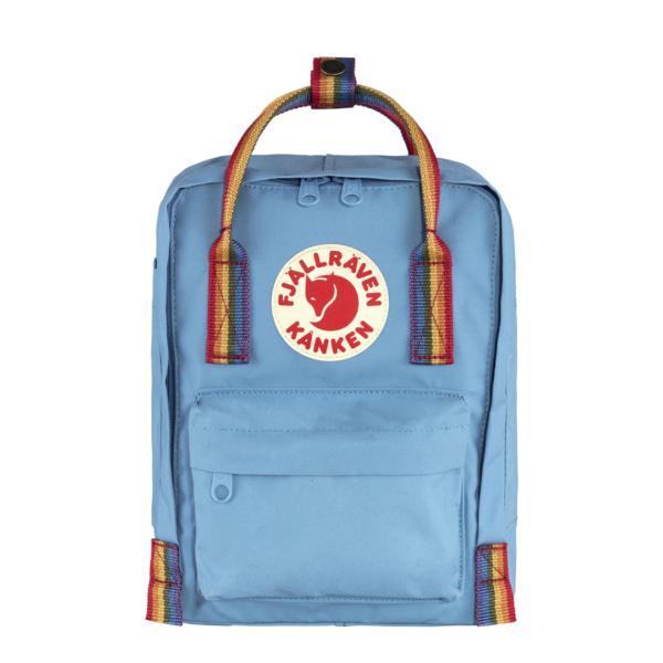 Fjallraven Kanken Rainbow Mini Backpack Air Blue / Rainbow Pattern