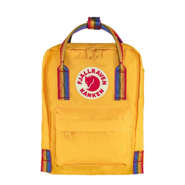 Fjallraven Kanken Classic Backpack Warm Yellow Rainbow Pattern