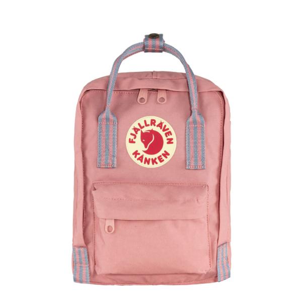 Fjallraven Kanken Mini Backpack Pink / Long Stripe