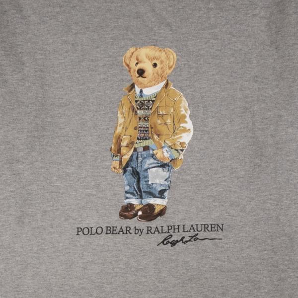 Polo Ralph Lauren Bear Print L/S Tee Andover Heather