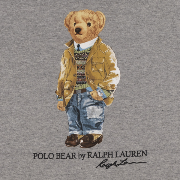Polo Ralph Lauren Bear Print S/S Tee Andover Heather