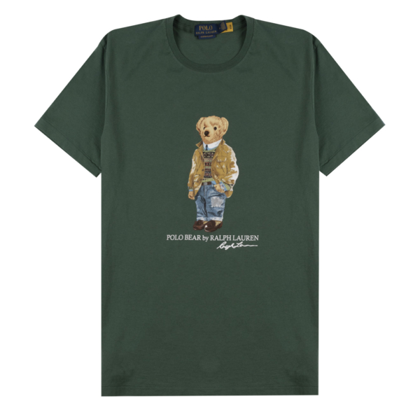 Polo Ralph Lauren Bear Print S/S Tee Washed Forest