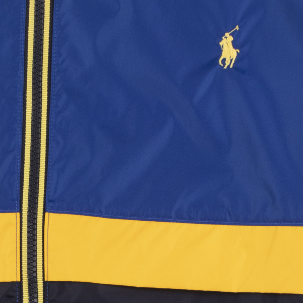 Polo Ralph Lauren Belport Dual Colour Windbreaker Jacket Sapphire Star / Navy / Yellow
