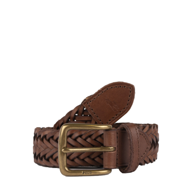 Polo Ralph Lauren Casual Braided Belt Polo Saddle