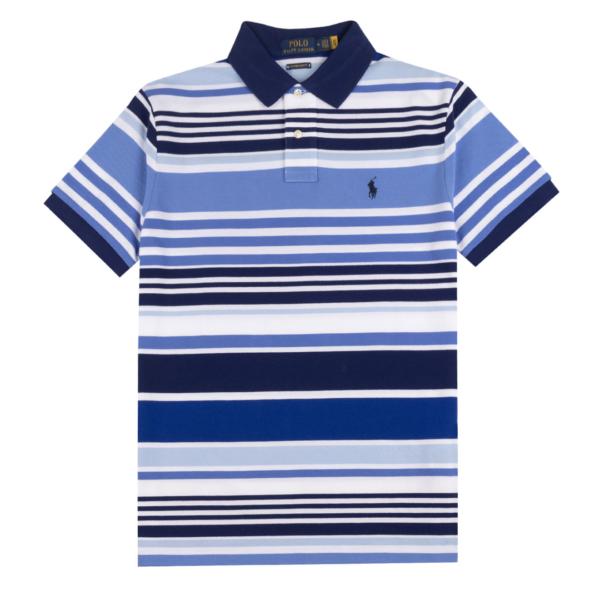Polo Ralph Lauren Classic Fit Stripe Mesh Polo White Multi