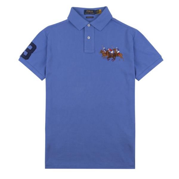 Polo Ralph Lauren Classic Fit Three Pony Mesh S/S Polo Scottsdale Blue