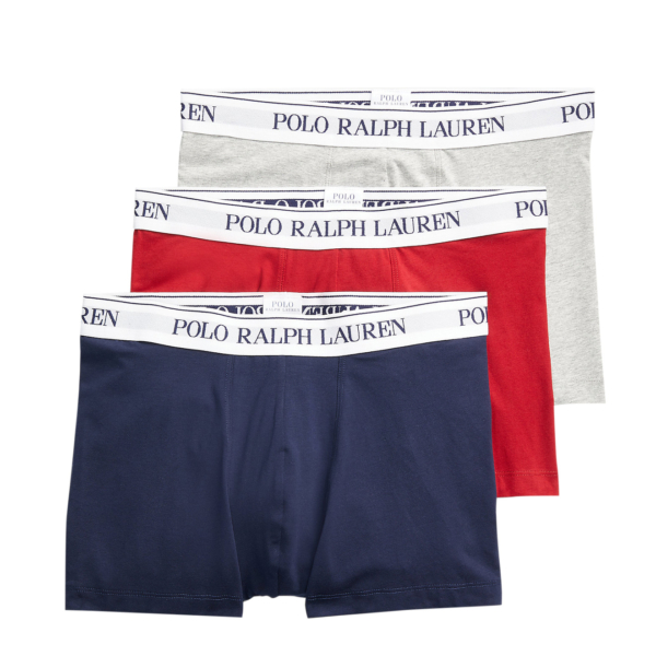 Polo Ralph Lauren Classic Trunk 3-Pack Heather / Red / Navy