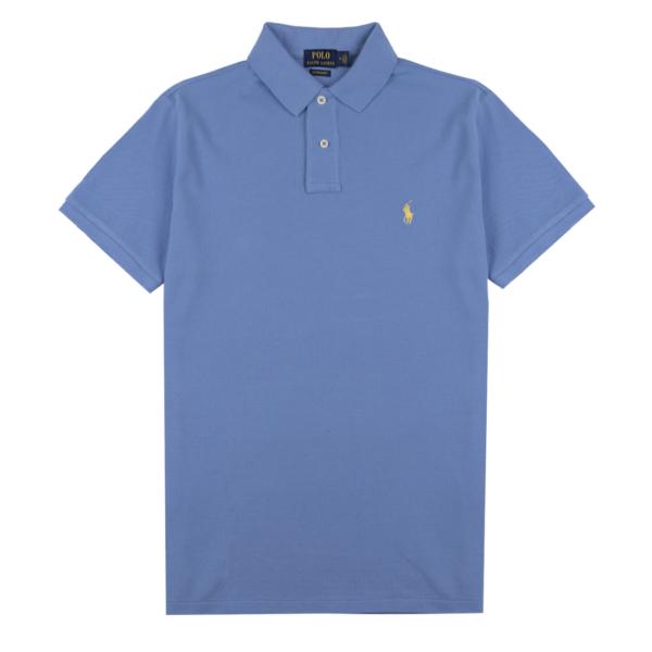 Polo Ralph Lauren Slim Fit Mesh Polo Shirt Cabana Blue