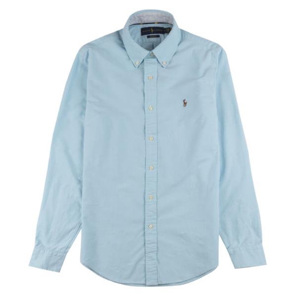 Polo Ralph Lauren L/S Classic Oxford Check Shirt C/S Aegean Blue