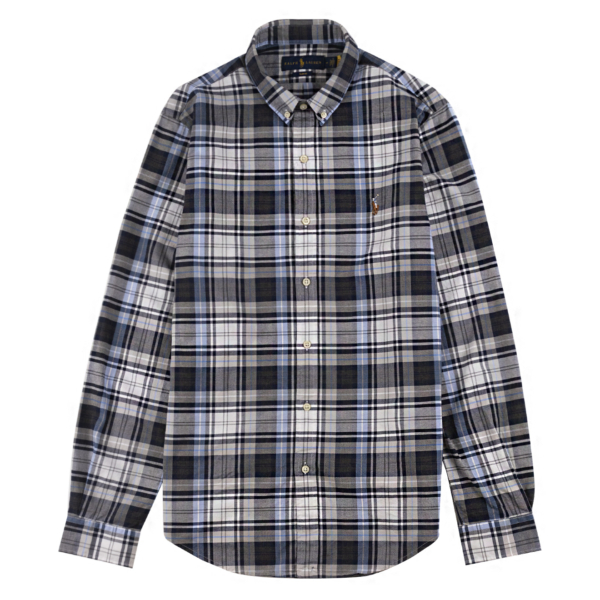 Polo Ralph Lauren L/S Classic Oxford Sports Shirt S/F Grey Heather / Blue
