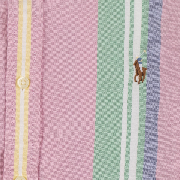 Polo Ralph Lauren L/S Stripe Oxford C/S Shirt Pink / Green
