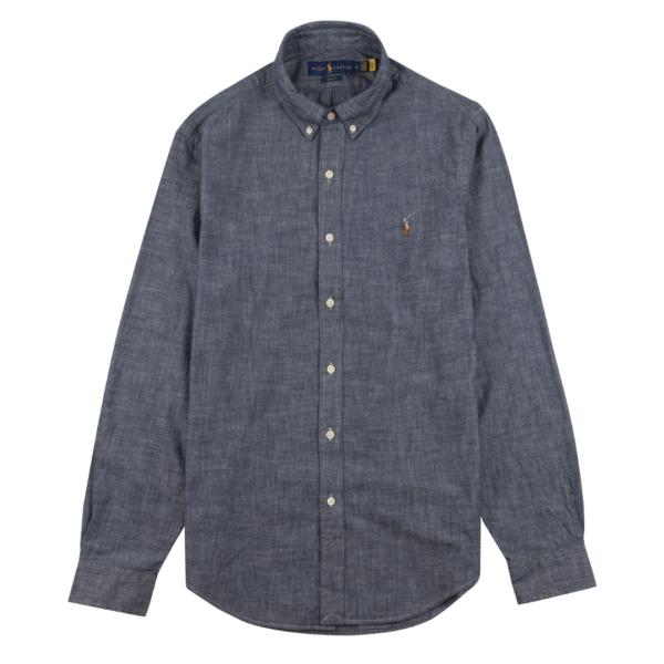 Polo Ralph Lauren Slim Fit Chambray Shirt Dark Indigo