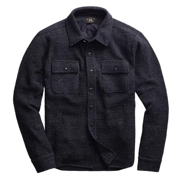 RRL by Ralph Lauren Workshirt Sweater Navy / Black