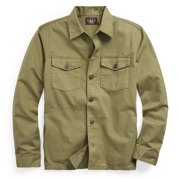 RRL by Ralph Lauren Barrow L/S Sport Shirt Military Olive