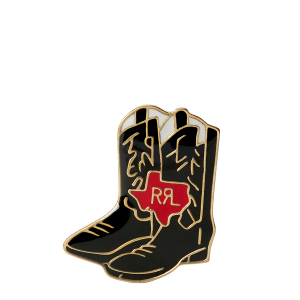 RRL by Ralph Lauren Enamel Cowboy Boot Pin Brass