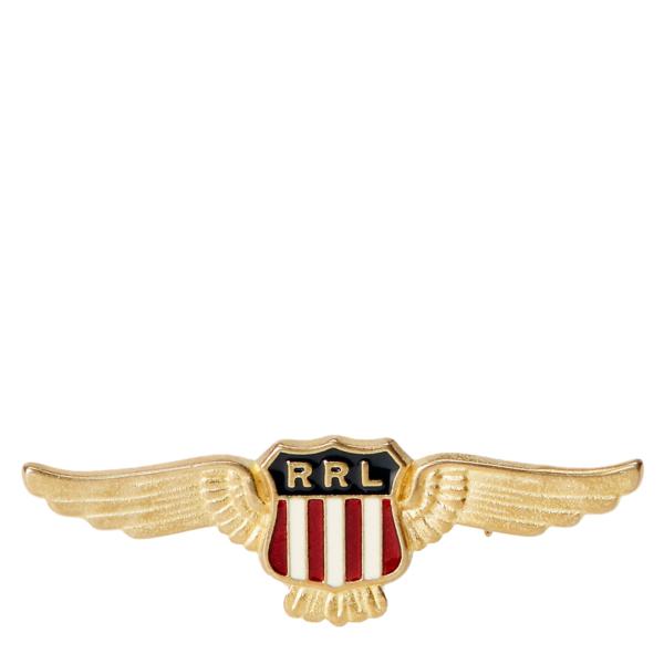 RRL by Ralph Lauren Enamel Shield Pin Brass