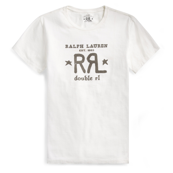 RRL by Ralph Lauren Graphic Logo T-Shirt Paper White